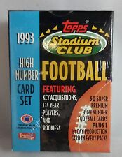 1993 Topps S.C. Football High Number Set 50 Cards Plus 1st. day Production Card
