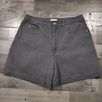 Talbots Black Denim Womens Size 16 Regular Flat Front Casual Mom Jean Shorts