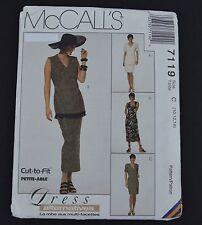 McCalls 7119 Dress Jacket Skirt Sewing Pattern Uncut Size 10 12 14 V Neck 1990s