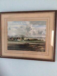 Vintage Rowland Hilder OAST HOUSES Framed Print