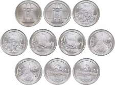 2010 P&D 25c National Park Quarter 10 Coin Set Uncirculated Mint State
