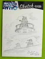 Dr Doctor Who Trilogy Sketch Card drawn by Carolyn Edwards /2 - Dalek
