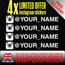 X4 @ YOUR INSTAGRAM NAME FUNNY CAR VAN VINYL STICKER EURO JDM VAG DUB SHOW DECAL