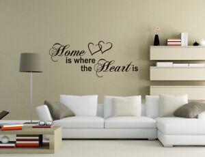 Family is where the Heart Vinyl Wall Sticker Mural Decal Art Home Decor UK pq168