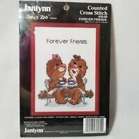 Vintage Janlynn Suzy's Zoo Forever Friends Counted Cross Stitch Kit - New/Sealed