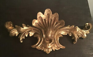 Beautiful Vintage Ornate Wall Plaque / Bed Crown