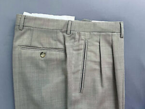 CANALI Tuch Hose Gr. 46 48 beige grau Fresco (dress pants zegna trousers)