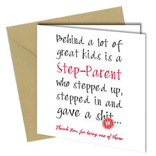 #573 STEP DAD BIRTHDAY CARD FATHERS DAY CARD / Comedy / Rude / Funny / Humour