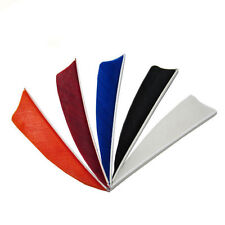 36,50,100pcs 4'' Natural Turkey Ring Wing Feather Arrow Fletching Sheild Shape