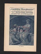 LEIPZIG, Werbung 1908, Lauchstädter Mineralbrunnen Getränk