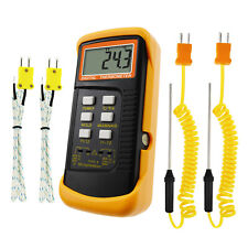 Thermocouple Temperature K Type Thermometer With 4 Probe Wired Amp Stainless Steel