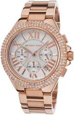 NEW MICHAEL KORS CAMILLE ROSE GOLD,PAVE GLITZ,CHRONO,ROMAN NUMERALS WATCH-MK5636