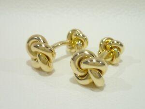 Vintage TIFFANY & CO. 14k yellow gold cufflinks
