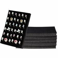 Ring Pad - 6-Pack Velvet Ring Display Tray, Ring Box Insert, Case, Ring Foam
