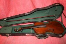 Super 19th Century 4/4 Violin W/Bow & Solid Hard Shell Case