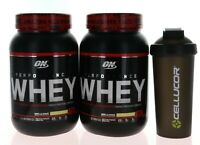 2 Pack Optimum Nutrition Performance Whey Protein Powder, Vanilla Skake + Shaker