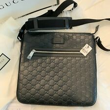 gucci messenger bag black
