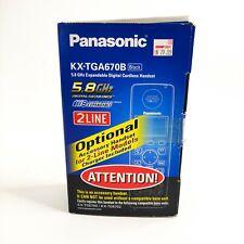 Panasonic KX-TGA670B Black 5.8 GHz Expandable Digital Cordless Handset