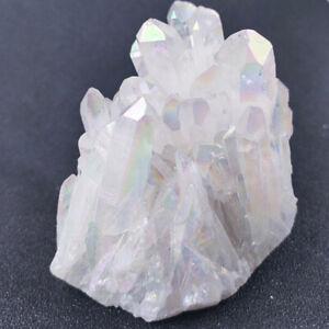 Natural White Titanium Quartz Crystal Cluster Specimen Healing Stone  5-10cm