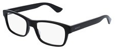 *NEW AUTHENTIC* GUCCI 0006OA 001 BLACK EYEGLASS FRAME, SIZE 55mm