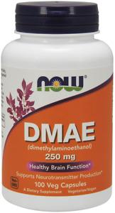 Now DMAE 250m 100 Veg Caps Dimethylaminoethanol Supports Neurotransmitter 5/22E
