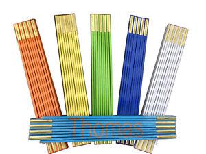 Zollstock mit persönlicher Gravur-5 Farben- Geschenk für jeden Anlass  € 8,50/St