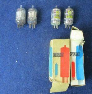 4 x Zweifachdiode EAA91 Detektor Röhre RFT Röhrenwerk Neuhaus & Valvo