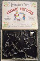 Pennsylvania Dutch Cookie Cutters Original Box Folk Art Heart Girl Chick Tulip