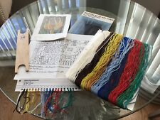 Swedish Weaving Tapestry Pattern Yarn plus tool, book. Inga Palmgren Artist.
