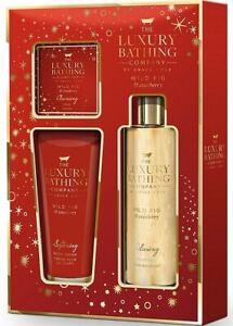 Grace Cole Luxury Wild Fig & Cranberry Body Cream 150ml + Body Wash 250ml + Soap