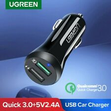 Ugreen Quick Charge 3.0 In Car Charger Dual USB Fast Charge Fr Samsung S8 iPhone