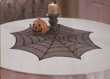Lace Round Table Cloth Feature Cover HALLOWEEN Web Lacey Cobweb Spiders Centre