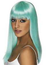 Womens Long Aqua Glamourama Wig