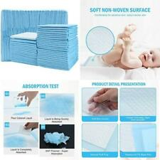 Timoo 100 Pcs Dispo Changing Pad Leak-Proof Underpad Bed Table Protector Mat, So