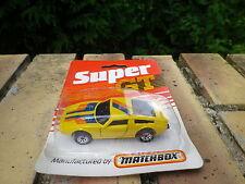 MATCHBOX SUPERFAST SUPER GT MASERATI SUN BURNER jaune neuf blister jamais ouvert