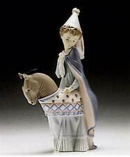 LLADRO Porcelain Figurine 6114 Medieval Princess on Horse Mint in Box