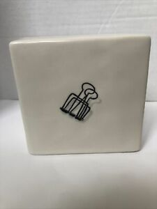 Rae Dunn Artisan Collection  Paper Clip Ceramic Desk Paper Weight Home Office