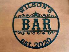 Personalized Bar Name Indoor Metal Sign Home Outdoor Custom Established Wall Art