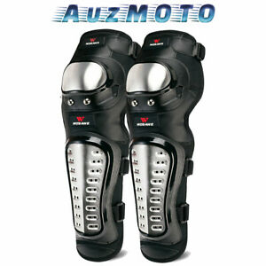 Adult Motorcycle Knee Pads Stainless Steel Motocross Shin Guards MTB Protector