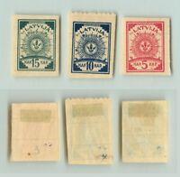 Latvia 🇱🇻  1919  SC  3 -5  mint imperf. f1401