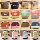 Mini Women Men Key Card Cash Coin Wallet Bag Makeup Zip Pouch Purse Case Canvas