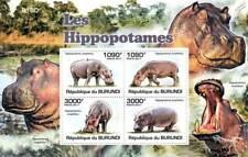 HIPPOPOTAMUS African Common Hippo Stamp Sheet #1 of 5 (2011 Burundi)