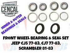 Front Wheel Bearing & Seal Kit Jeep CJ5 CJ7 77-83 Scrambler 81-83 KIT 13