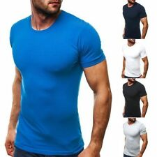 Cotton Blend Crew Neck Fitted Big & Tall T-Shirts for Men