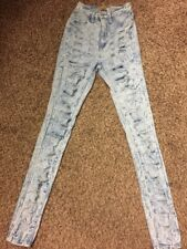 Aphrodite Skinny Destroyed Acid washed Stretch Jeans Size 1