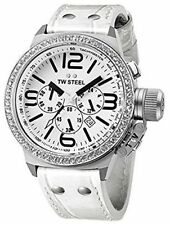 newstuffdaily: NIB TW STEEL TW10 Canteen 45MM White Dial Chronograph Watch
