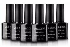 Gellen UV Gel Nail Polish Set, Pack of 6 Colors + Base And Top Coat