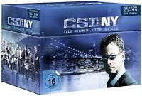 CSI: NY-SEASON 1-9 KOMPLETTBOX 54 DVD NEU