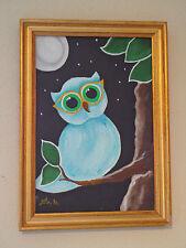 """""""HYBOU  """" tableau peinture acrylique encadré"""