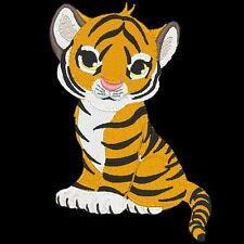 TIGER CUBS - 13 MACHINE EMBROIDERY DESIGNS (AZEB)